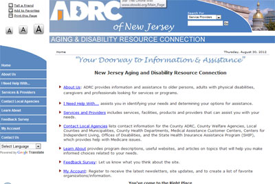 ADRC of New Jersey